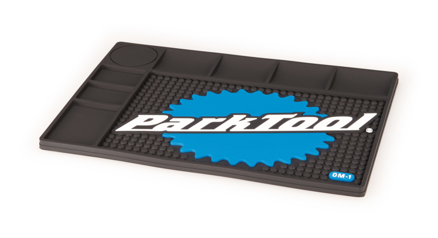 The Park Tool OM-1 Benchtop Overhaul Mat, enlarged