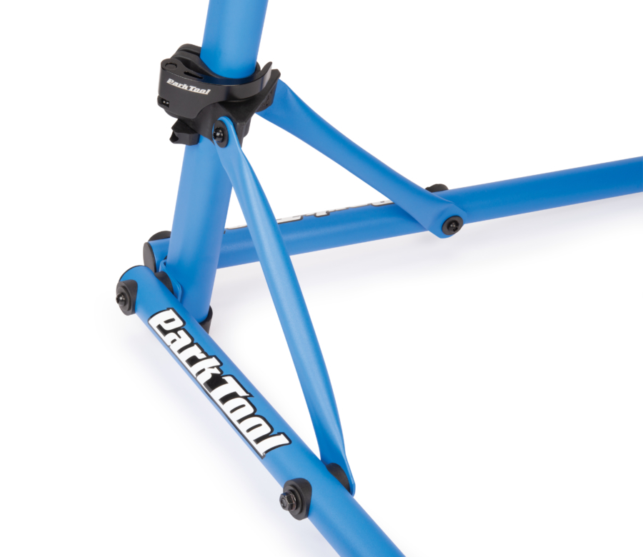 Close up of base and legs on the PCS-10.2, Deluxe Home Mechanic Repair Stand, enlarged