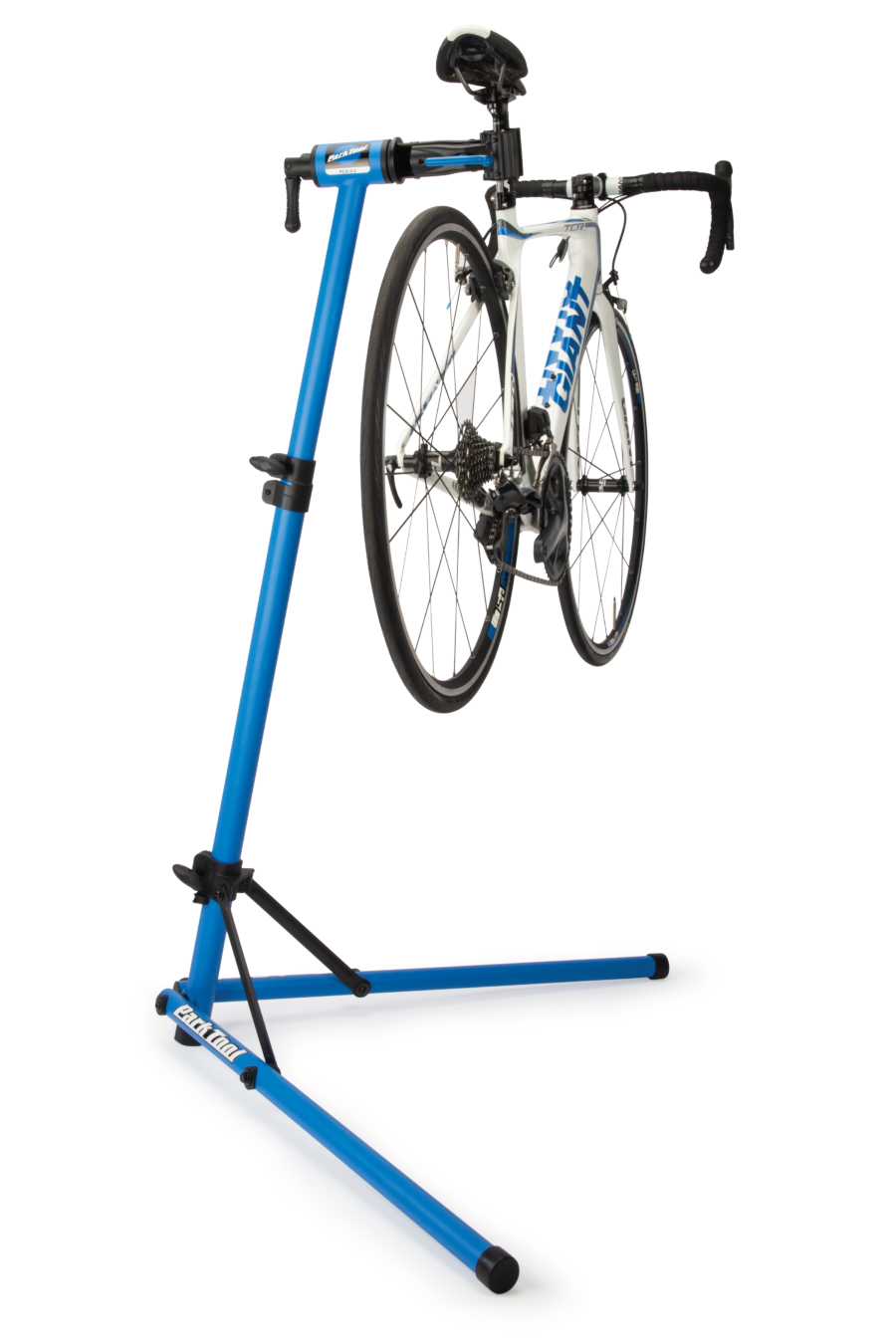 Park Tool PCS-9.2 Home Mechanic Repair Stand with bike lifted, enlarged
