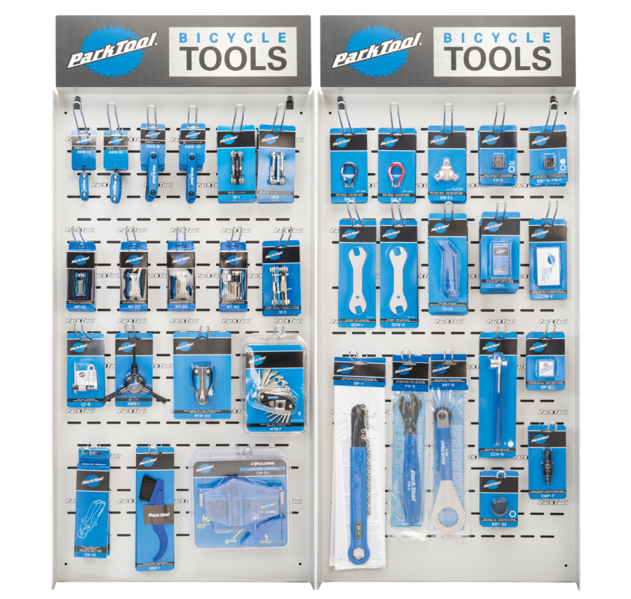 The Park Tool PDR-6.2 Double Wall Display, enlarged