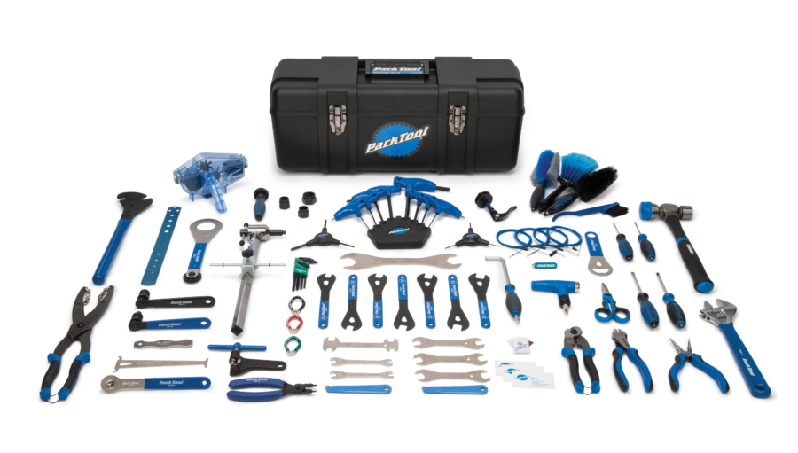 Contents in the Park Tool PK-2 Professional Tool Kit, enlarged