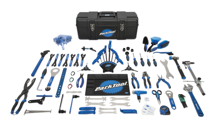 Contents in the Park Tool PK-3 Professional Tool Kit, enlarged