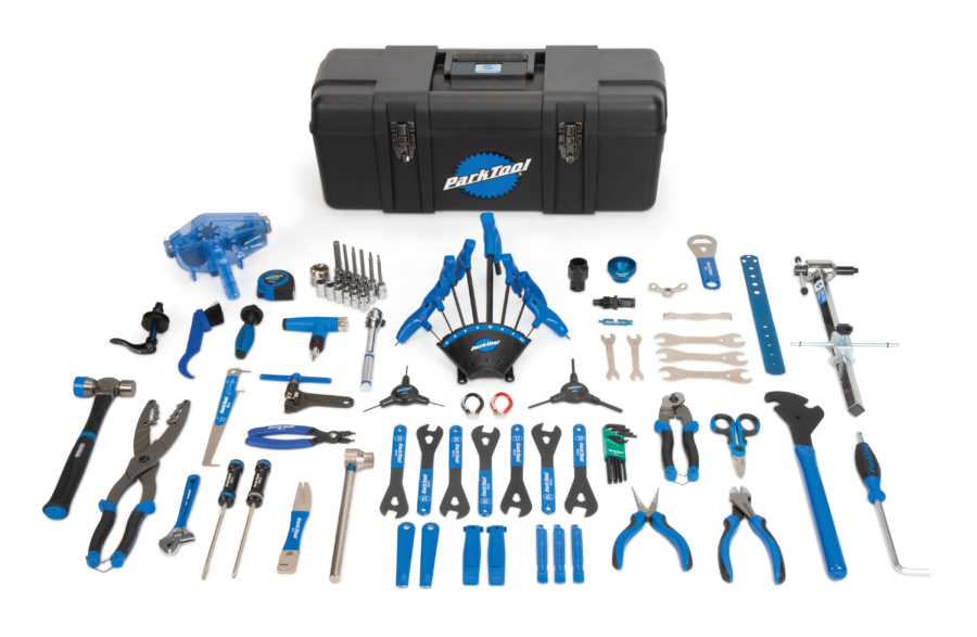 Contents in the Park Tool PK-4 Professional Tool Kit, enlarged