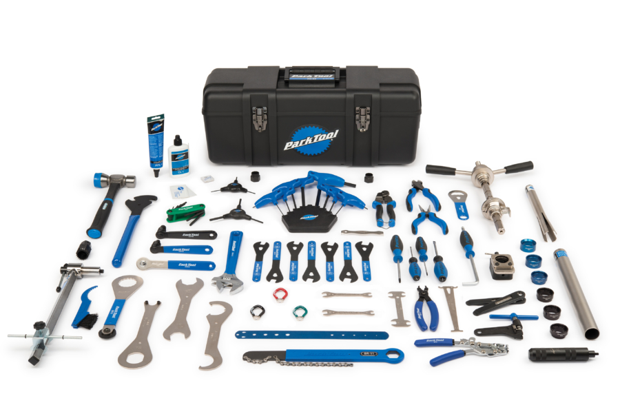 Contents in the Park Tool PK-66 Professional Tool Kit, enlarged