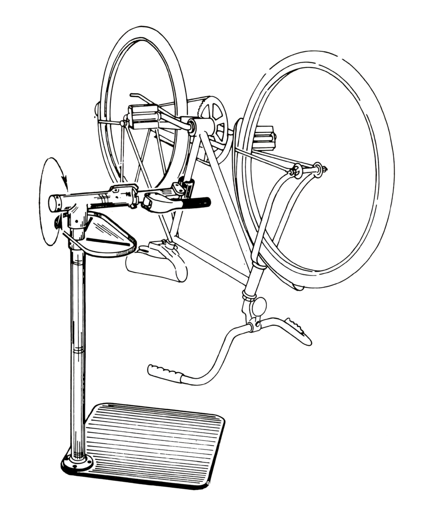 Line drawing of PRS-1 Repair Stand, enlarged