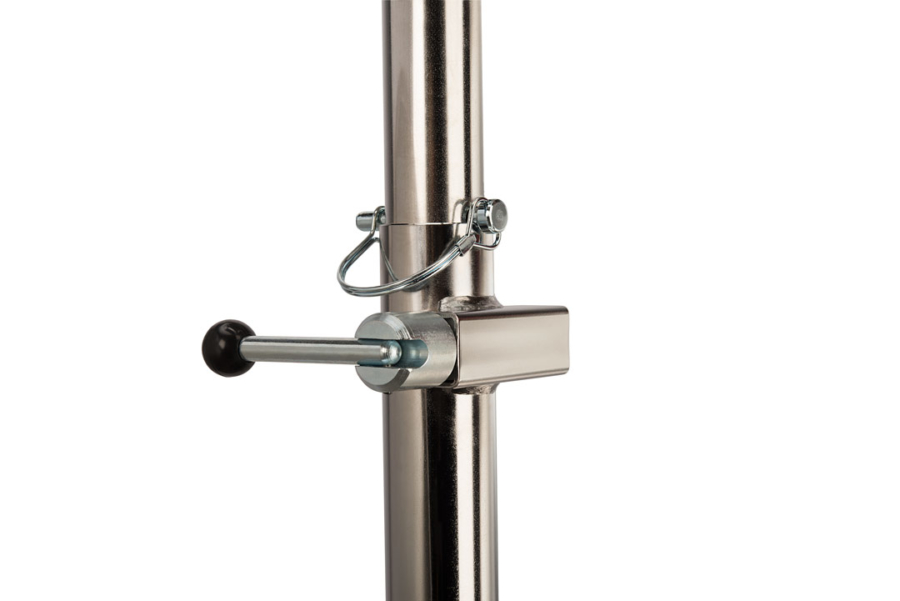 Close-up of The Park Tool PRS-2.2-1 Deluxe Double Arm Repair Stand lock block system, enlarged