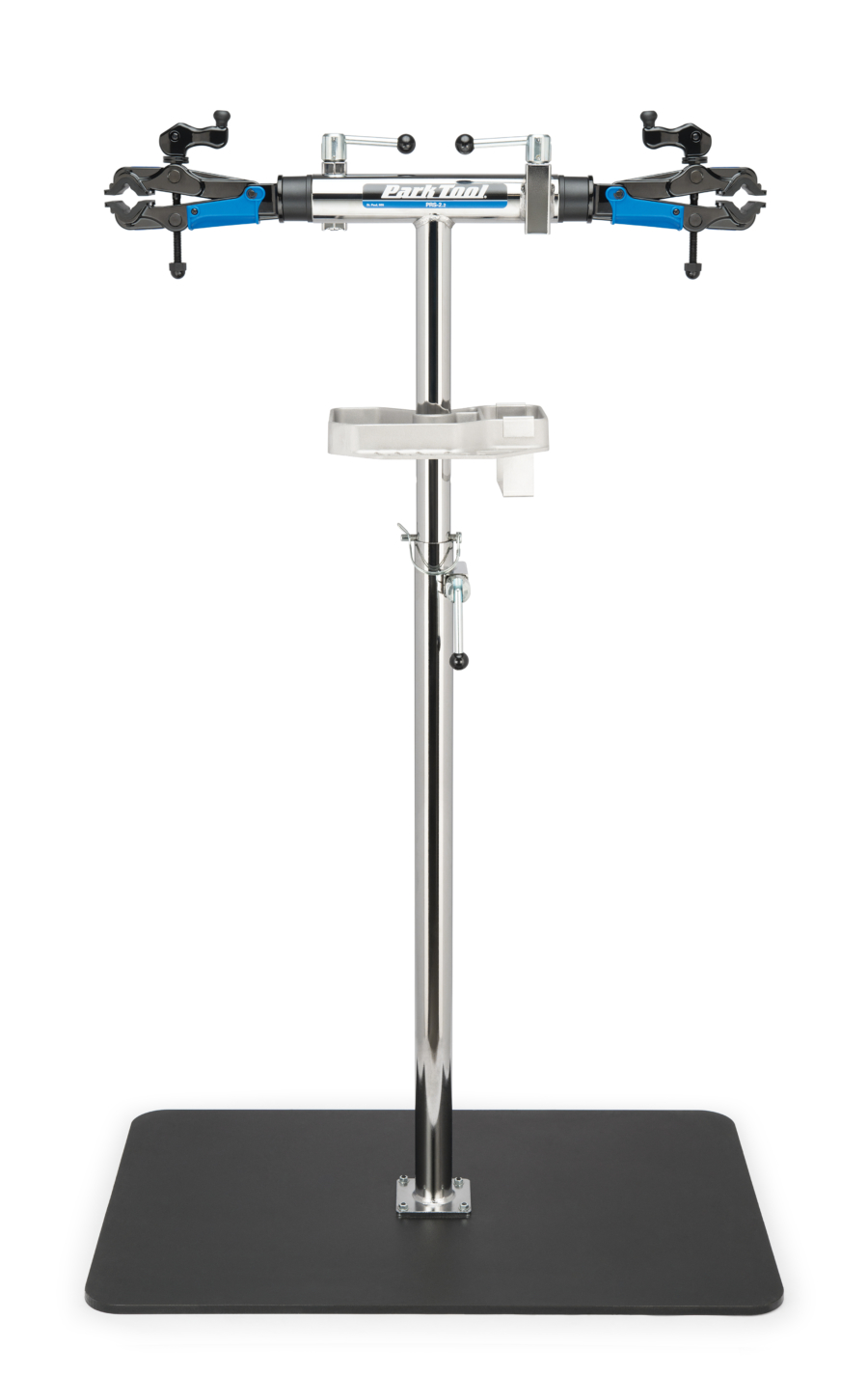 The Park Tool PRS-2.2-2 Deluxe Double Arm Repair Stand with stand base, enlarged