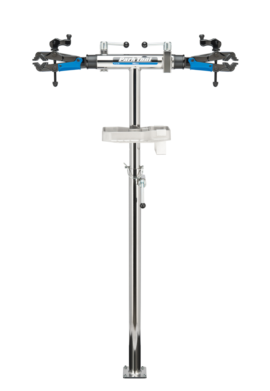 The Park Tool PRS-2.2-2, Deluxe Double Arm Repair Stand, enlarged