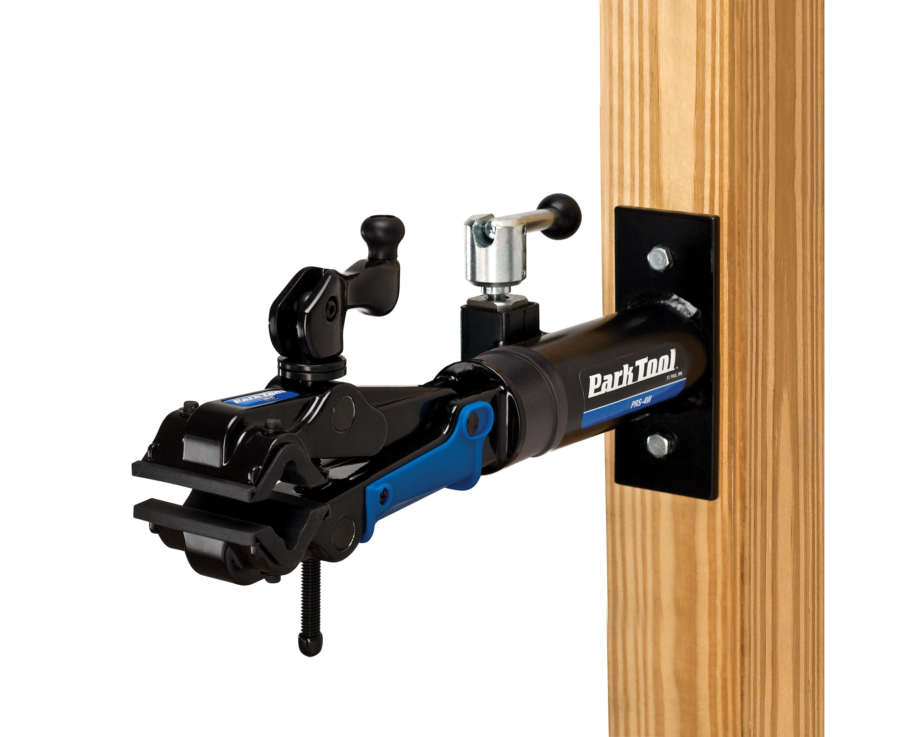 The Park Tool PRS-4W-2, Deluxe Wall Mount Repair Stand, enlarged