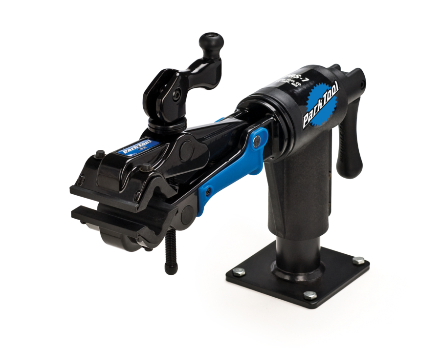 The Park Tool PRS-7-2, Bench Mount Repair Stand, enlarged