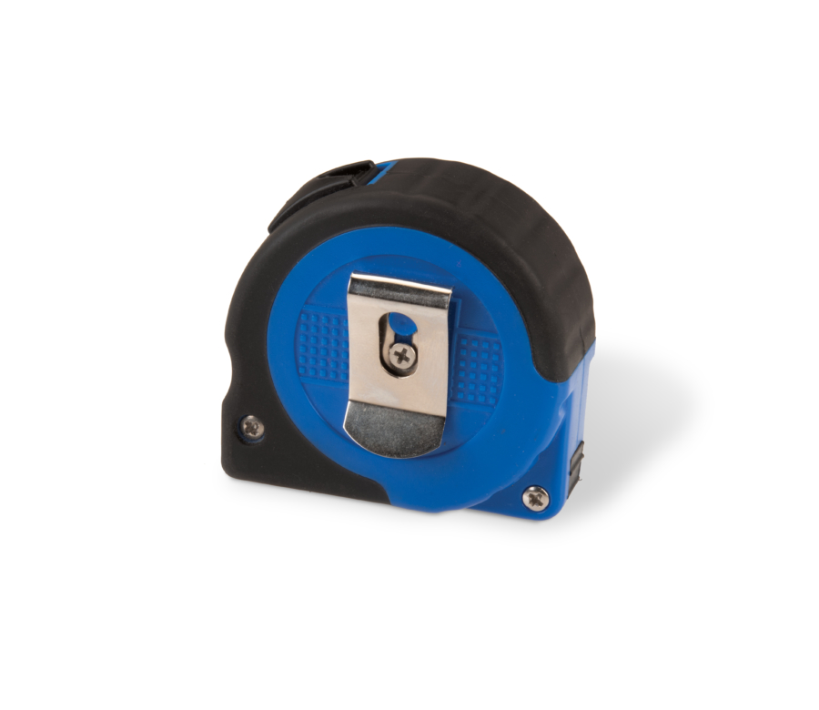 Backside of Park Tool RR-12 Tape Measure with integrated belt clip, enlarged