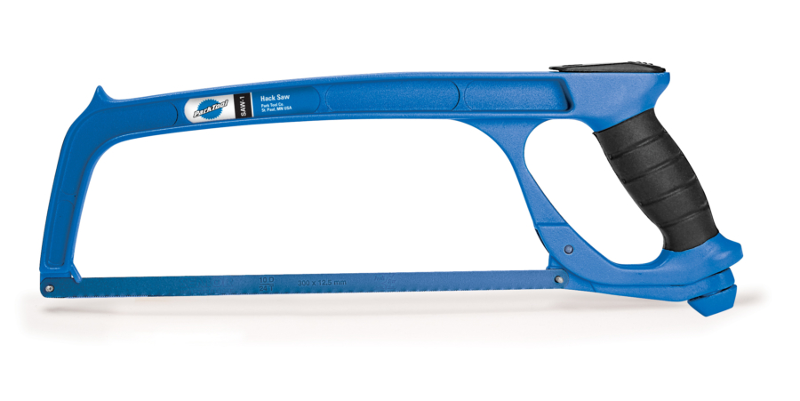 The Park Tool SAW-1 Hacksaw, enlarged