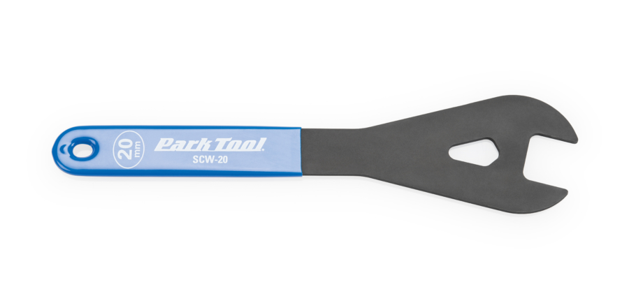 The Park Tool SCW-20 20mm Shop Cone Wrench, enlarged