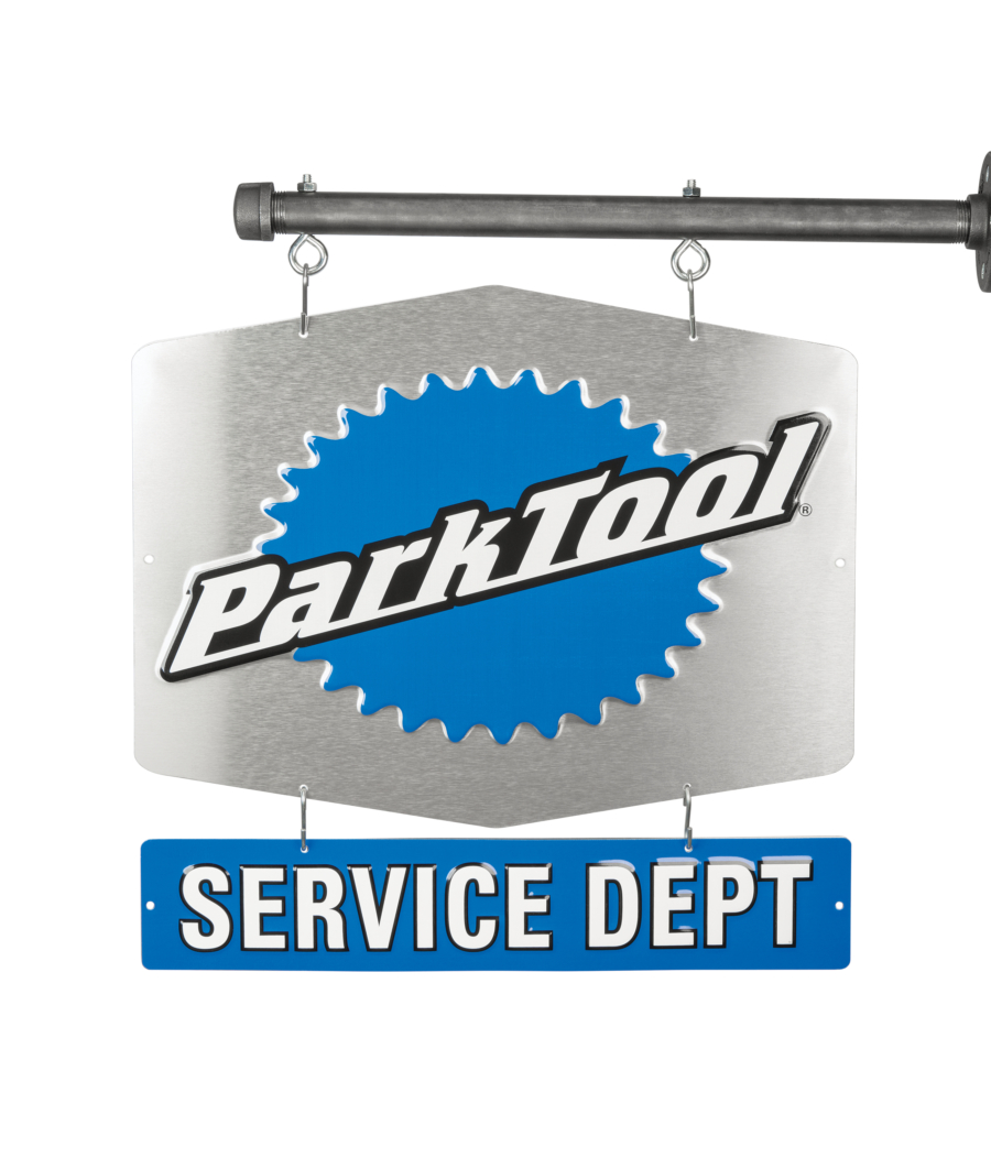 The Park Tool SDS-1, Service Department Sign — Single-Sided, enlarged