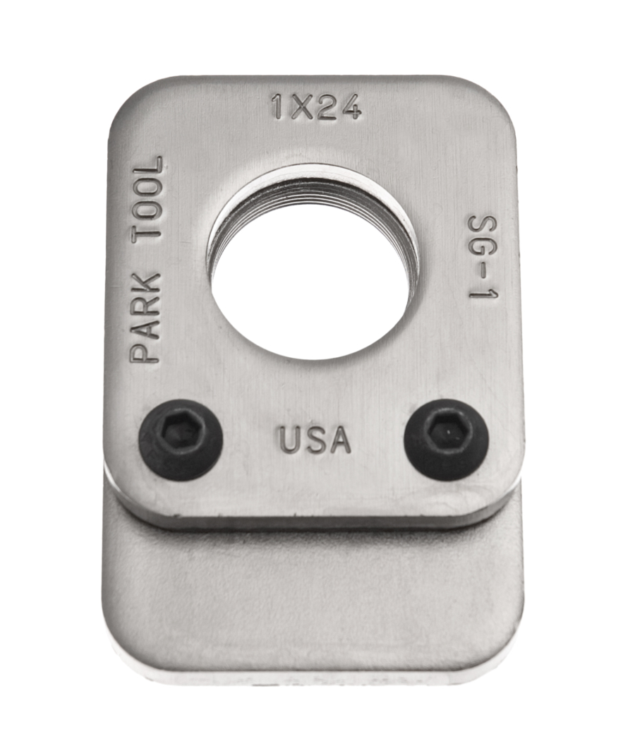 The Park Tool SG-1 Threaded Saw Guide, enlarged