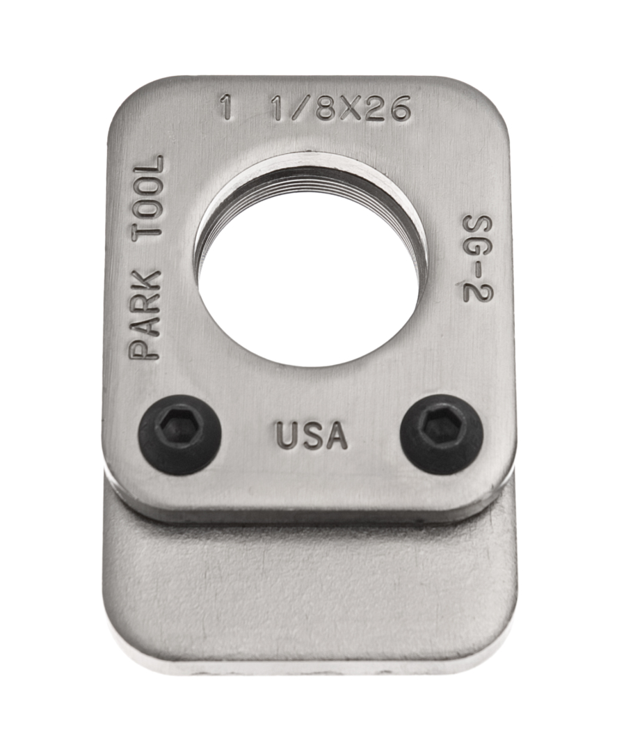 The Park Tool SG-2 Threaded Saw Guide, enlarged