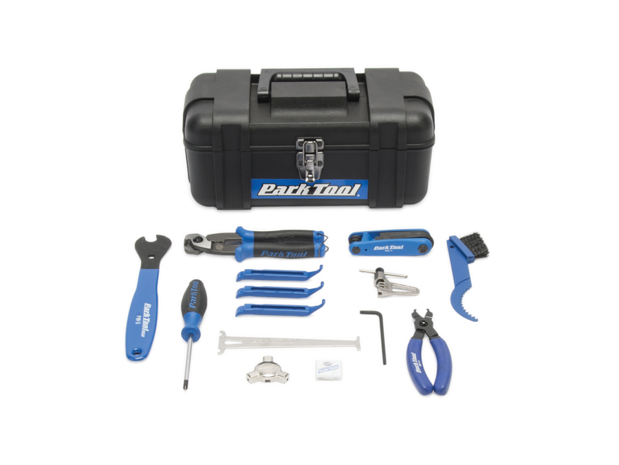 Contents in the Park Tool SK-3 Home Mechanic Starter Kit, enlarged