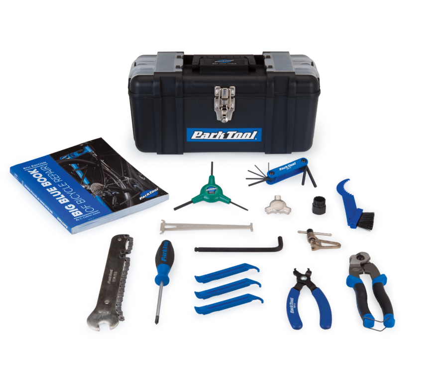 Contents in the Park Tool SK-4 Home Mechanic Starter Kit, enlarged