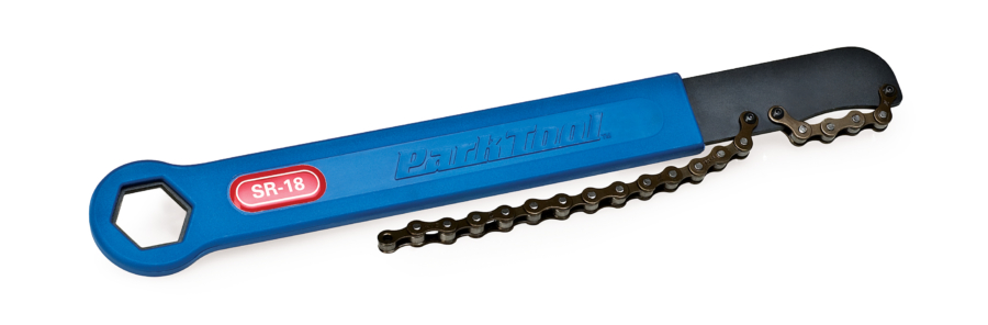 The Park Tool SR-18 Sprocket Remover / Chain Whip, enlarged