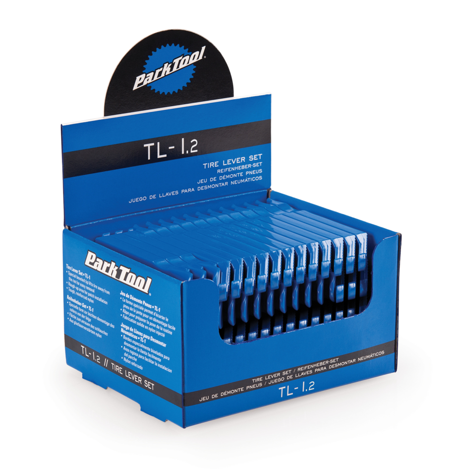 The Park Tool TL-1.2 Tire Lever Set display, enlarged