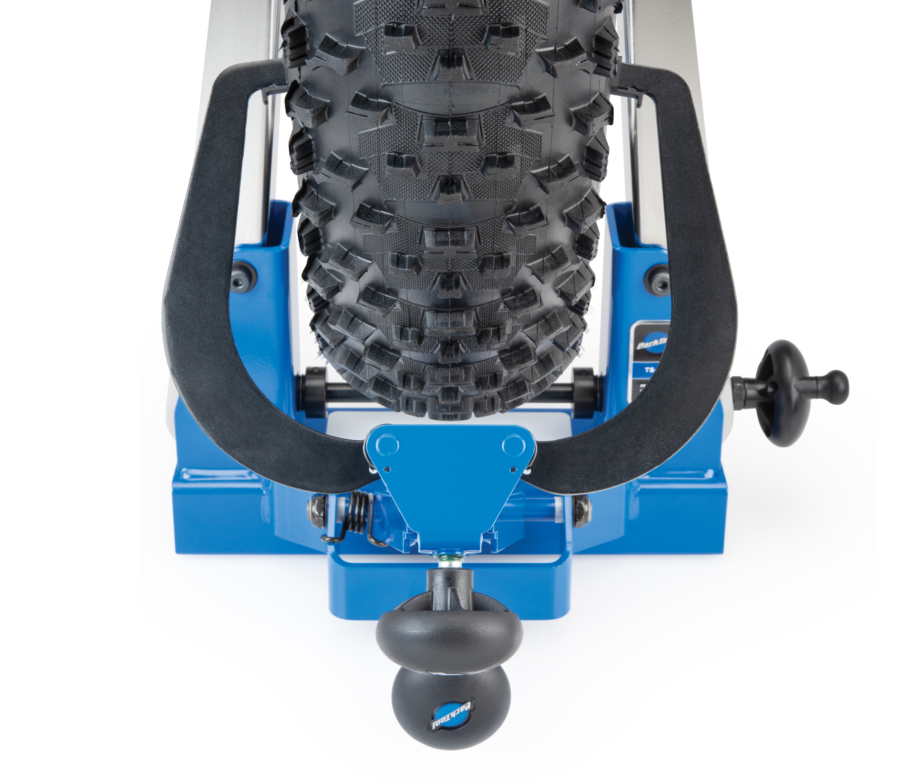 Above view of the Park Tool TS-4.2 Professional Wheel Truing Stand, enlarged