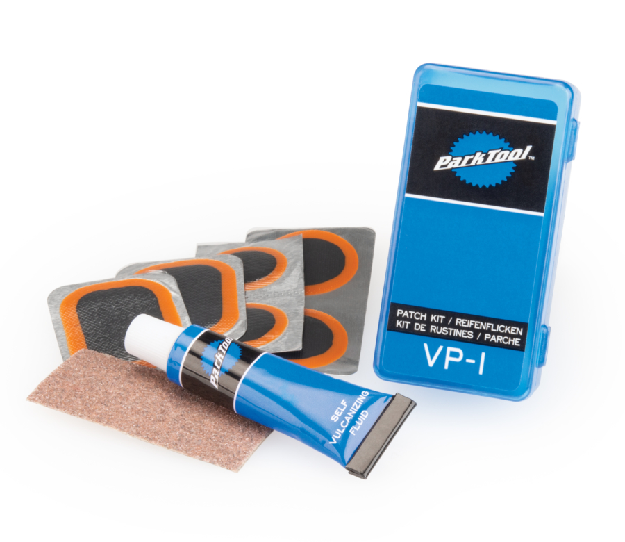 Contents of the Park Tool VP-1 Vulcanizing Patch Kit, enlarged