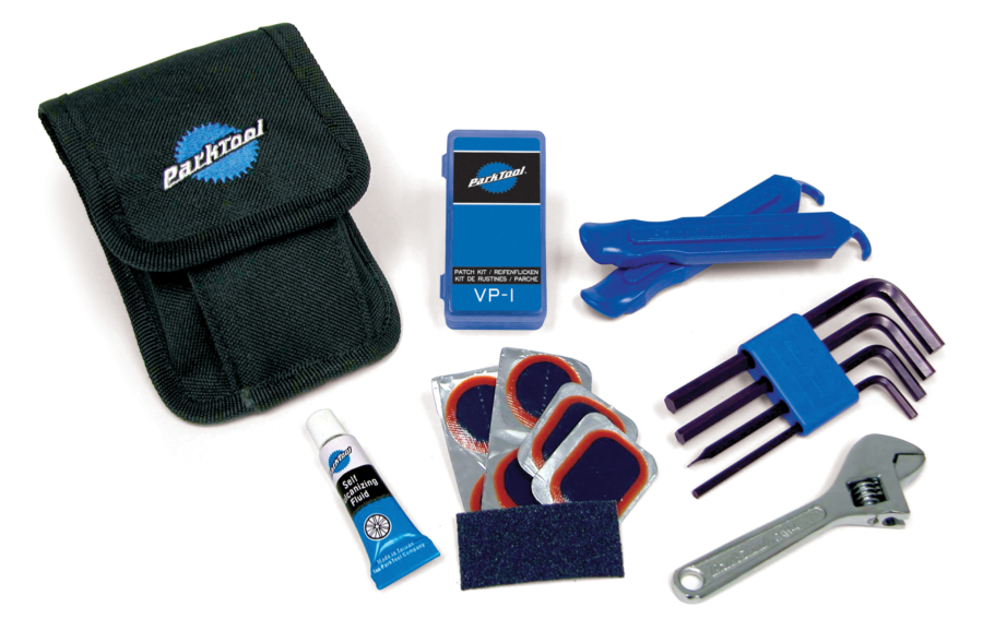 Contents of the Park Tool WTK-1 Essential Tool Kit, enlarged
