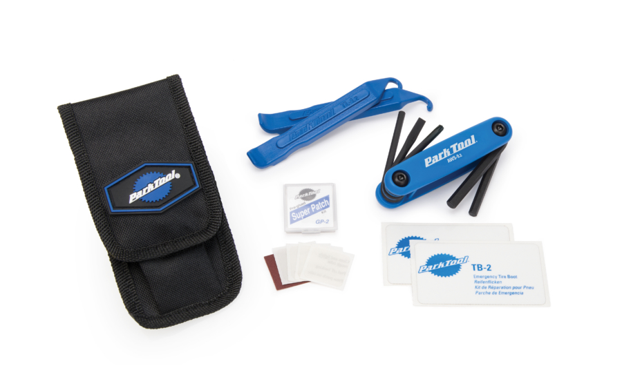 Contents of the Park Tool WTK-2 Essential Tool Kit, enlarged