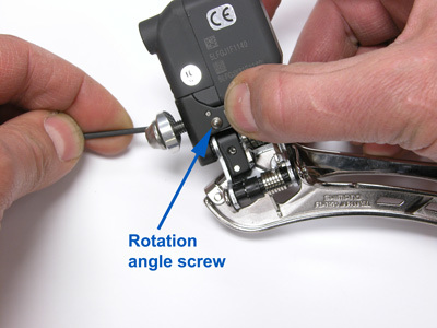 """Figure 3. The """"support bolt"""" will push against the frame to rotate the cage angle"""