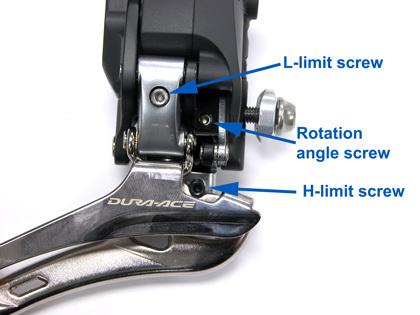 Figure 33. Location of adjustment screws