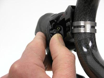 Figure 8. Socket receiver inside lever for shift wire connector plug