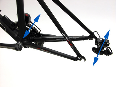 Figure 25. Operate and observe derailleur without chain in place