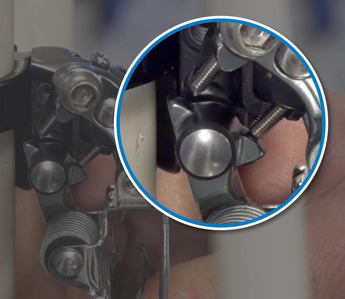 Limit screw striking linkage