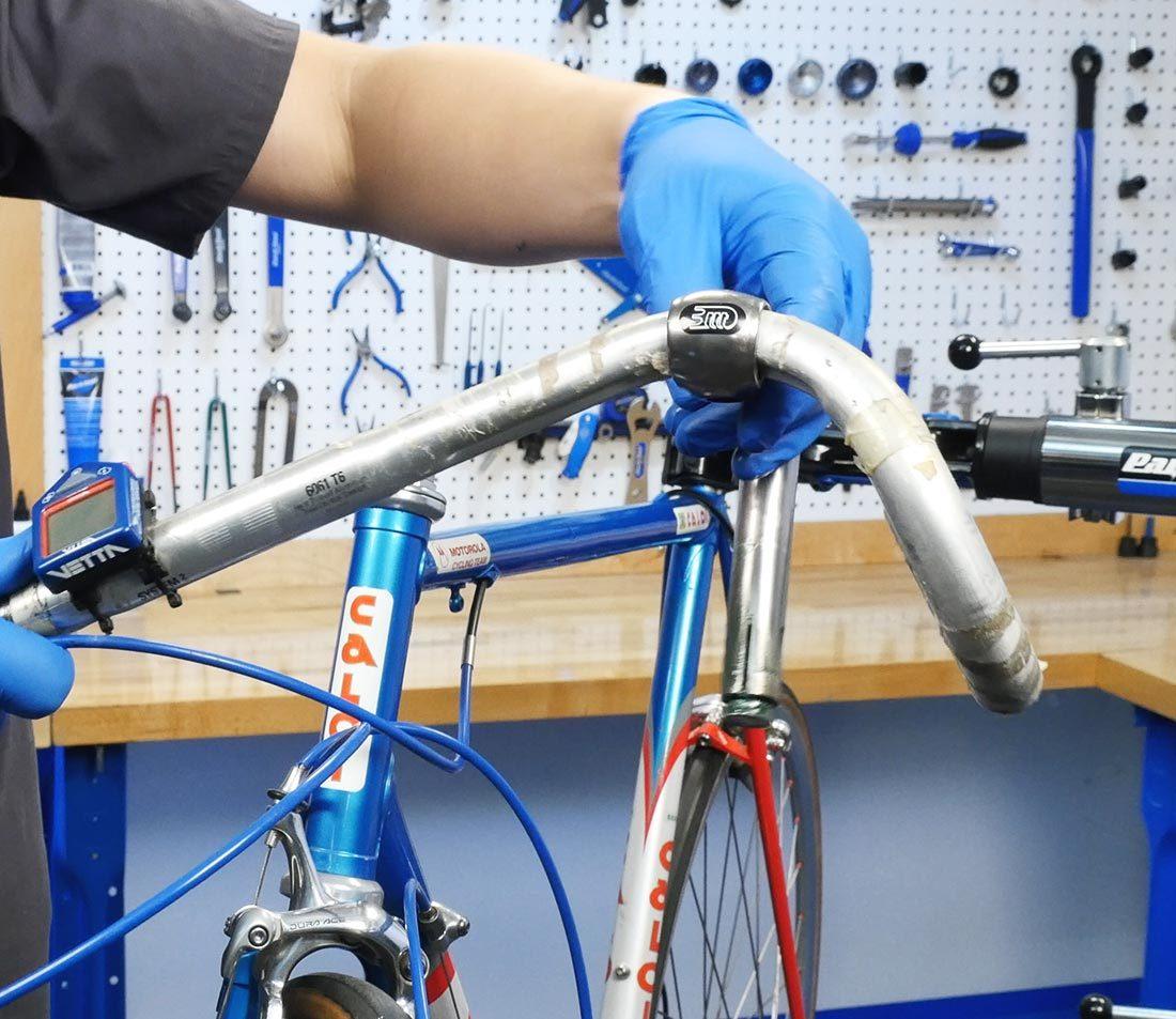 Preinstall compression slotted stem onto bar