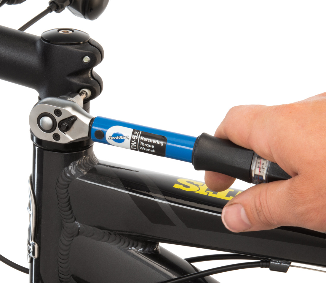 TW-5.2 in use on bicycle stem bolt