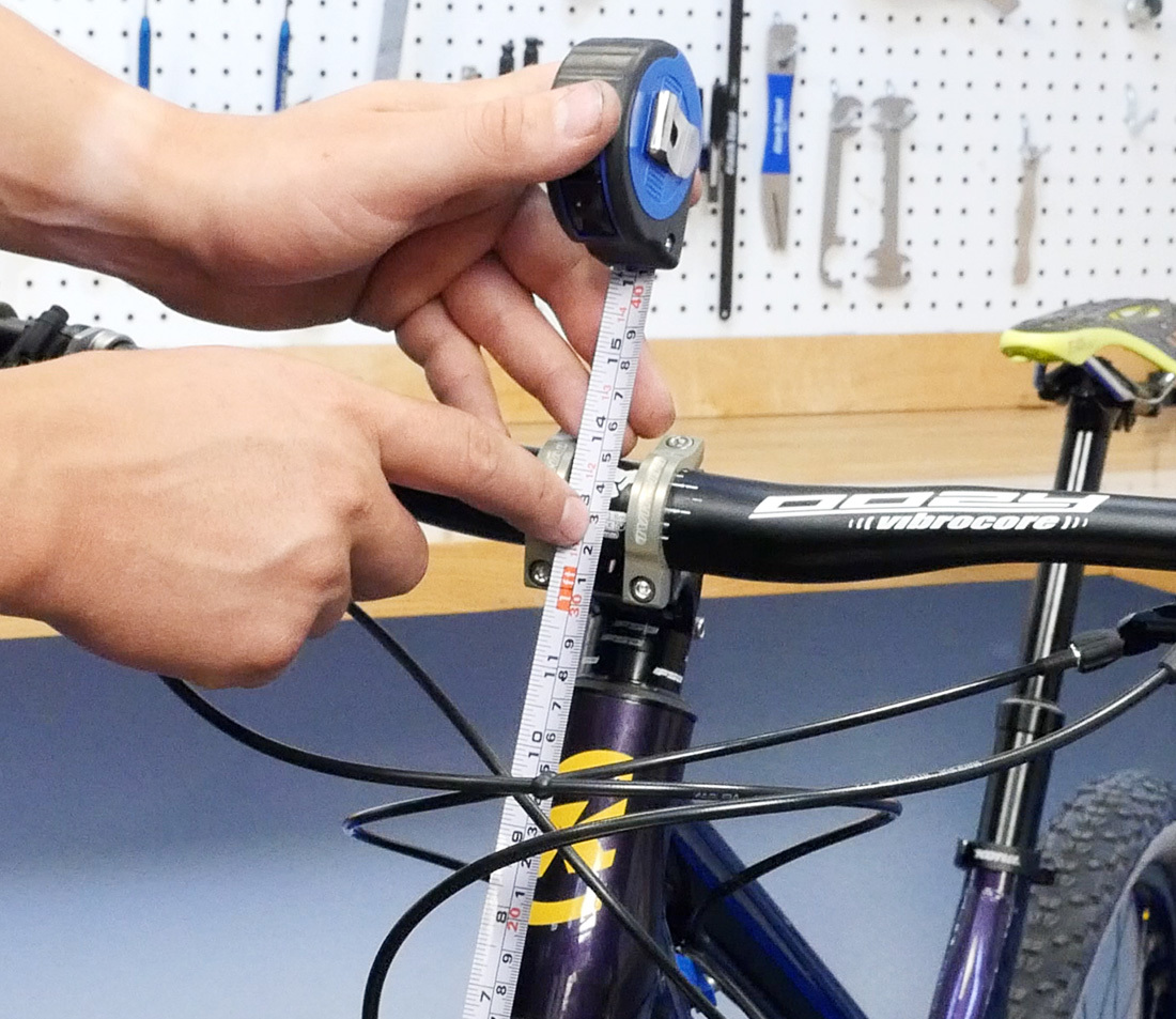 Measure to center of bar clamp if desiring to replicate bar height