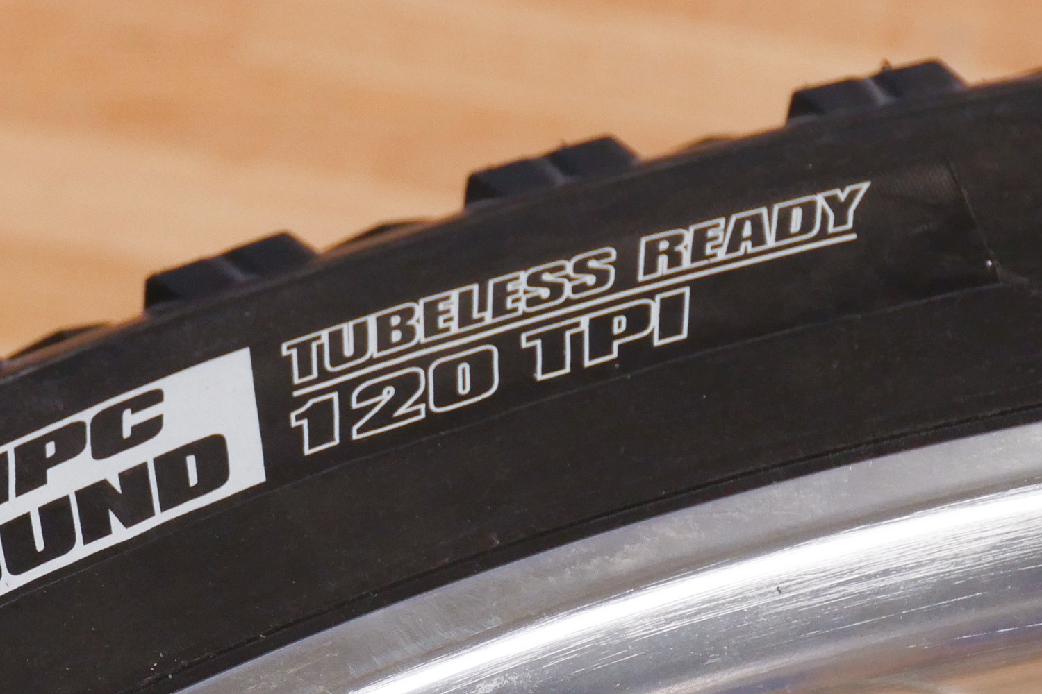 """Tire marked as """"tubeless ready"""""""