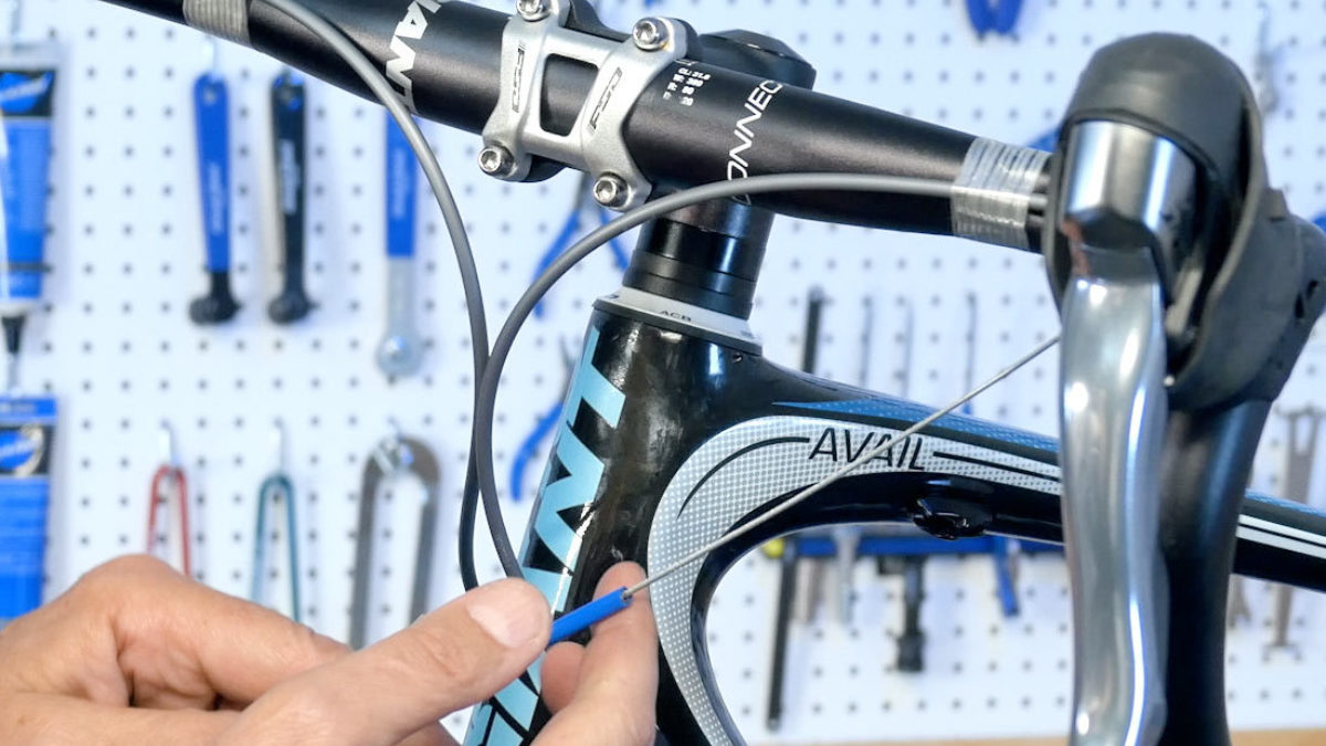 10 Road Bike Shifter Shift Cable Tips End Caps Crimps Blue