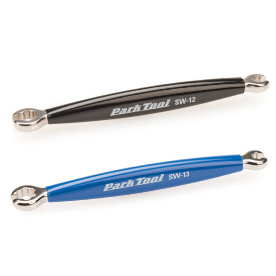 The Park Tool SW-12 and SW-13 Double-Ended Spoke Wrenches