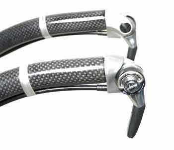 Figure 7. Bar end shifter mounted to forward-facing aero bar extensions
