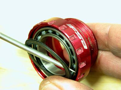 Carefully remove rubber seal