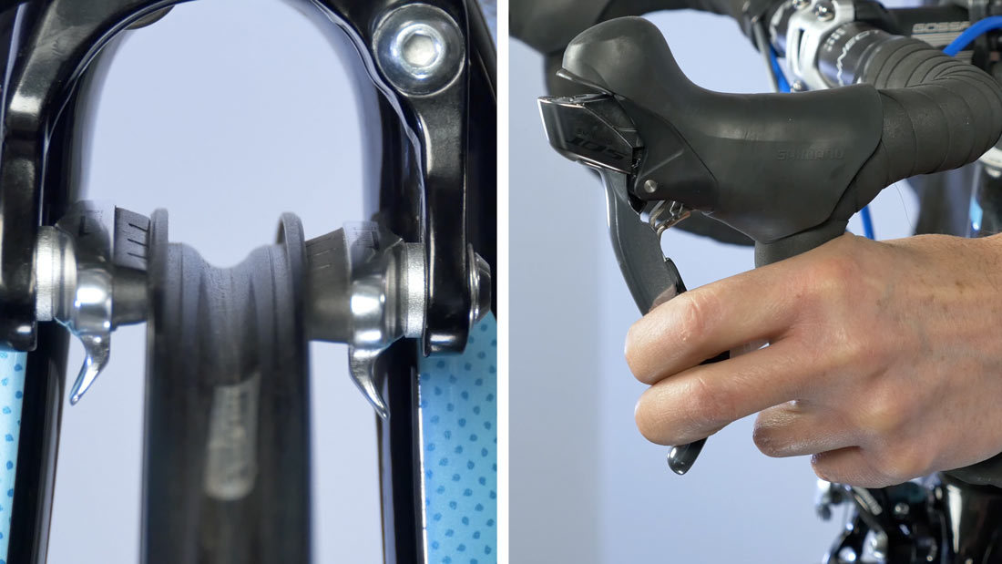 Set brake clearance by feel at lever