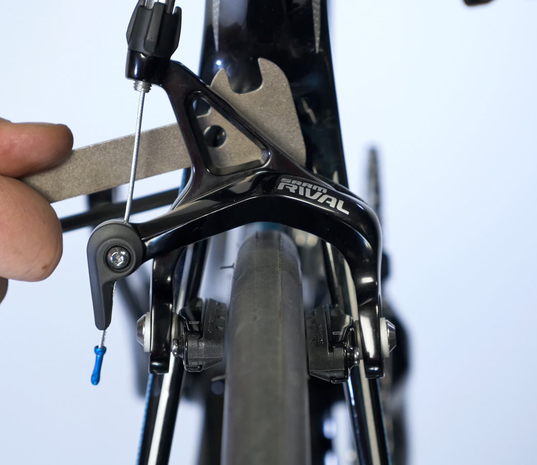 Use brake centering flats and brake wrench when moving brakes without centering screws
