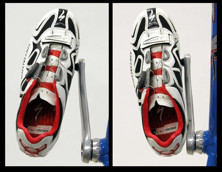 Figure 10. The extreme rotationals limit of a cleated shoe