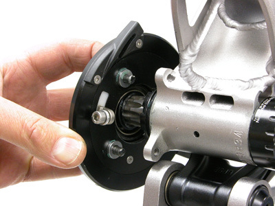 use a dab of grease between spacer and collar plate to help hold spacers while installing