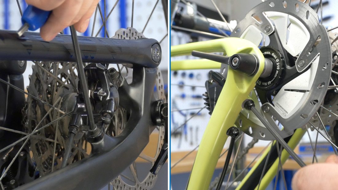 Loosen mounting bolts