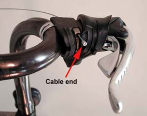 Campangolo® derailleur wires access from the underside of the lever body
