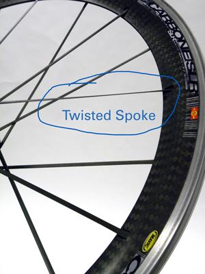 Circled twisted spoke