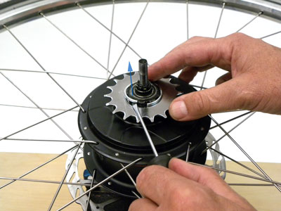Figure 45. Remove snap ring from rear cog