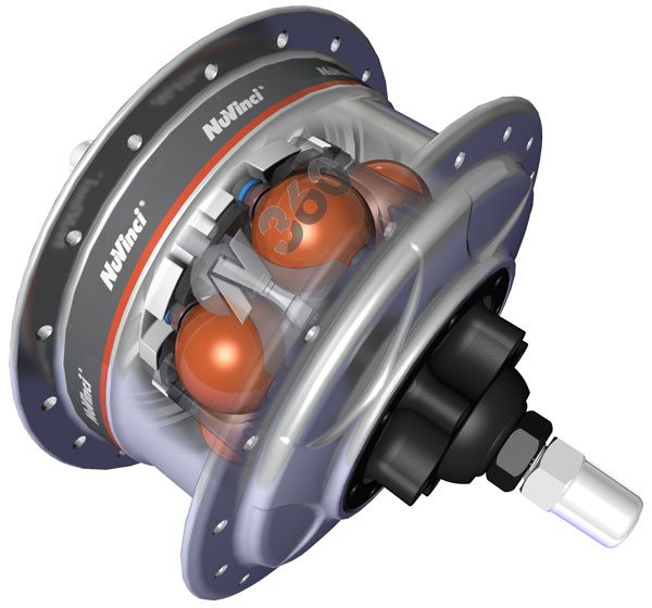 Figure 1. NuVinci™ N360® hub internal (photo credit Fallbrook Technologies)